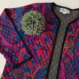 • vintage quilted jacket •